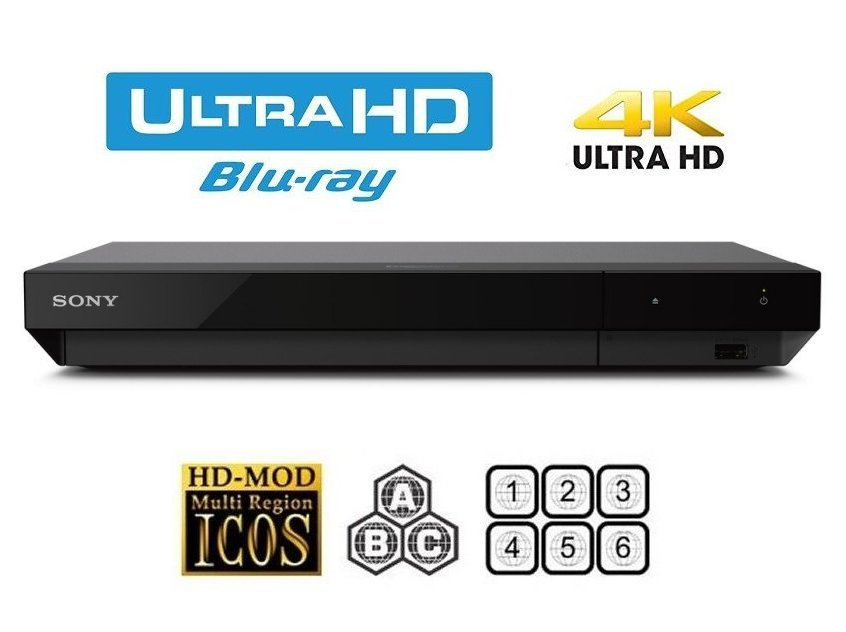 Sony UBP-X500 MULTIREGION Bundle with Gladiator Ultra HD 4K Blu-ray Disc