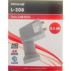 Universal LNB Twin 0.1 dB Amiko L-208